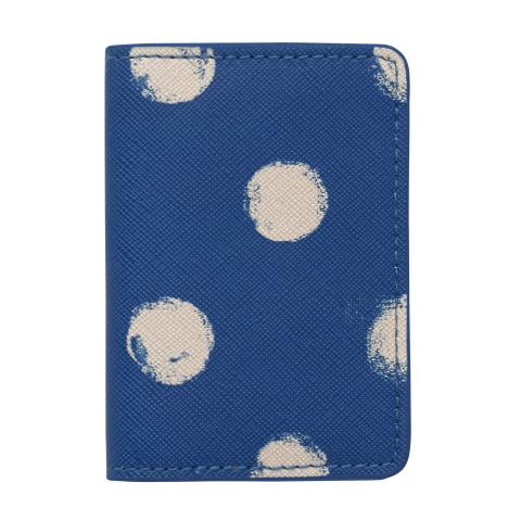 PU TWO-FOLD TICKET HOLDER SMUDGE SPOT MARINE