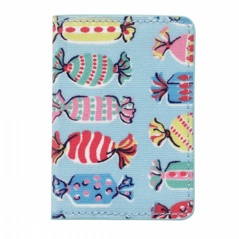 TWO-FOLD TICKET HOLDER SWEETS DUSTY BLUE