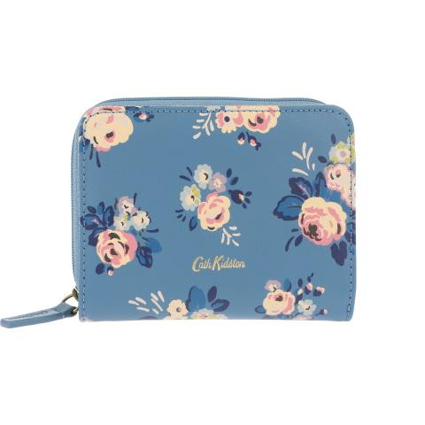 LEATHER POCKET PURSE BRIAR ROSE BLUE