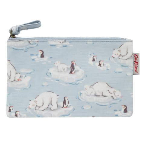 ZIP PURSE SMALL POLAR BEAR ICE BLUE