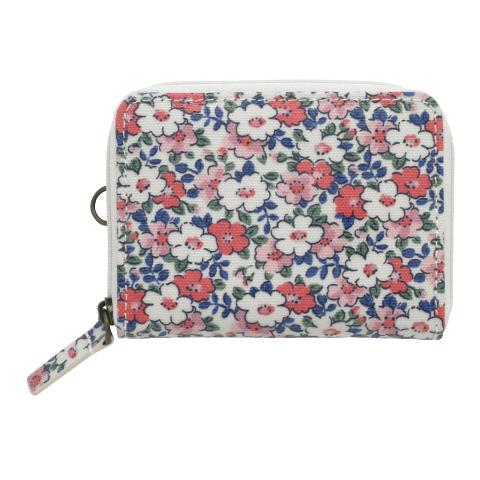 ZIPPED TRAVEL PURSE MEADOWFIELD DITSY PARCHMENT