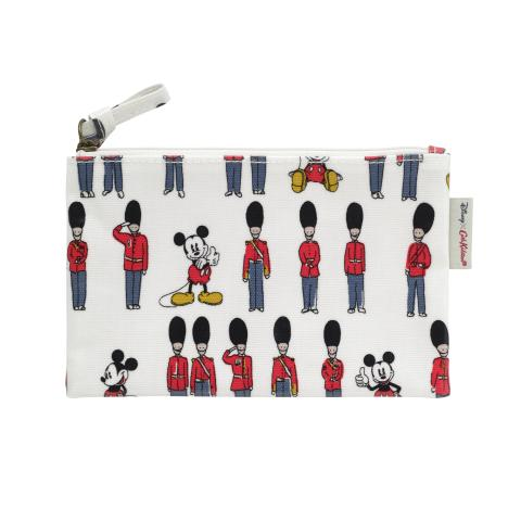 Disney Zip Purse Mickey and Guards Ivory