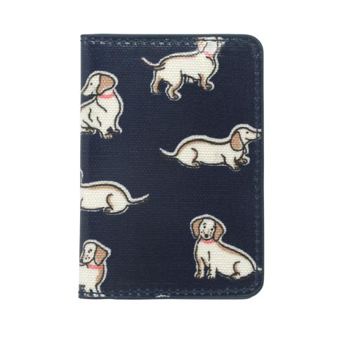 TWO-FOLD TICKET HOLDER MINI MONO DOGS INK