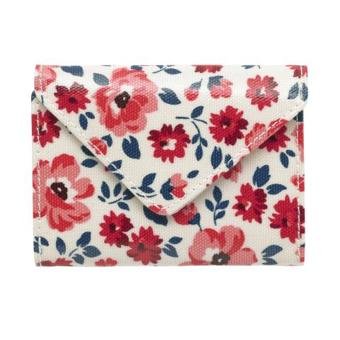 ENVELOPE CARD HOLDER ISLAND FLOWERS VANILLA BLUE