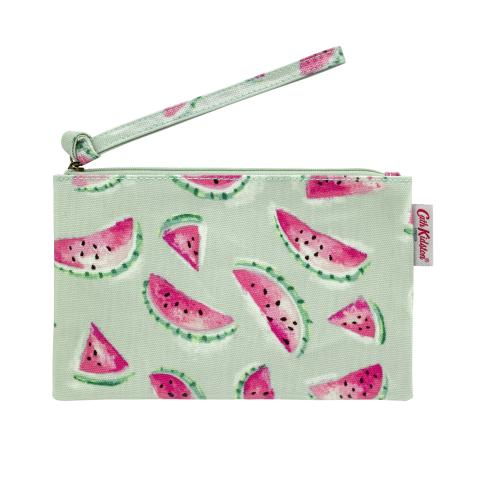 ZIP PURSE WITH WRIST STRAP WATERMELONS PISTACHE