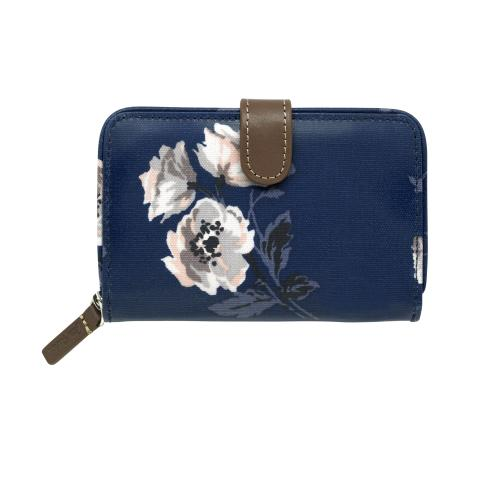 FOLDED ZIP WALLET ISLAND BUNCH NAVY