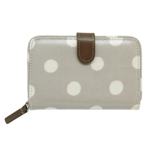 FOLDED ZIP WALLET BUTTON SPOT FAWN
