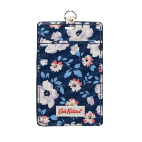 I.D TAG ISLAND FLOWERS NAVY