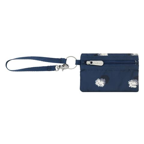 POLY MINI CARD PURSE POM POM SPOT NAVY