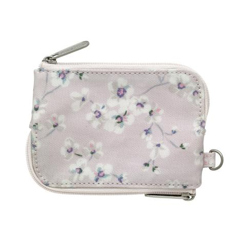 MULTI ZIP PURSE  WELLESLEY DITSY BLUSH PINK