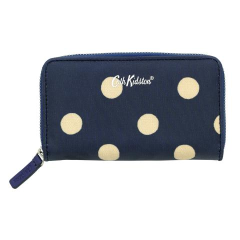 SMALL CONTINENTAL WALLET BUTTON SPOT NAVY