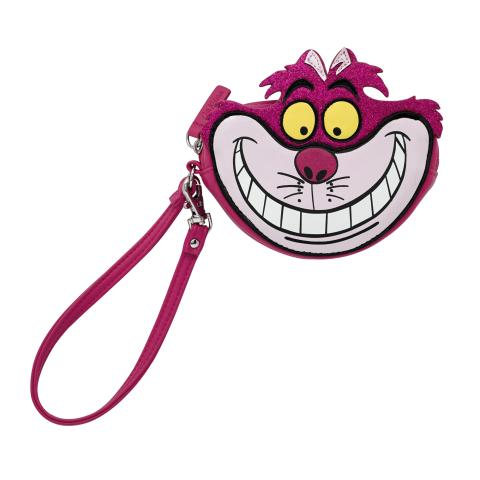SOLID MULTI DISNEY CHESHIRE CAT COIN PURSE WITH WRIST STRAP