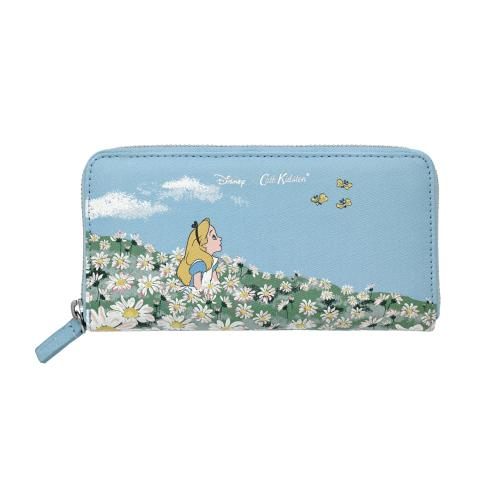 ALICE`S MEADOW SEA BLUE DISNEY CONTINENTAL WALLET
