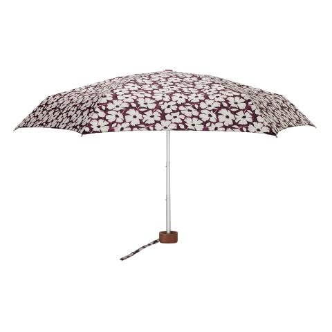 TINY UMBRELLA UV STAMP FLORAL BURGUNDY