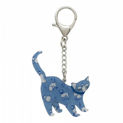 CAT BAG CHARM MID BLUE