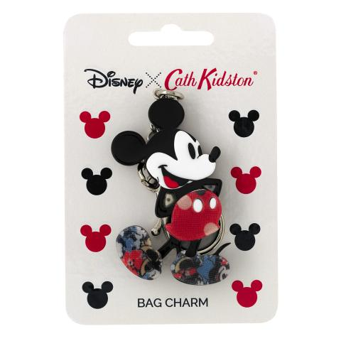 DISNEY BAG CHARM MINNIE & MICKEY SPOT RED