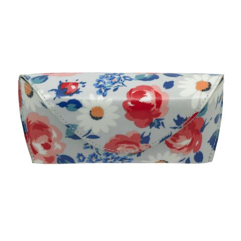 GLASSES CASE DAISIES & ROSES COOL BLUE
