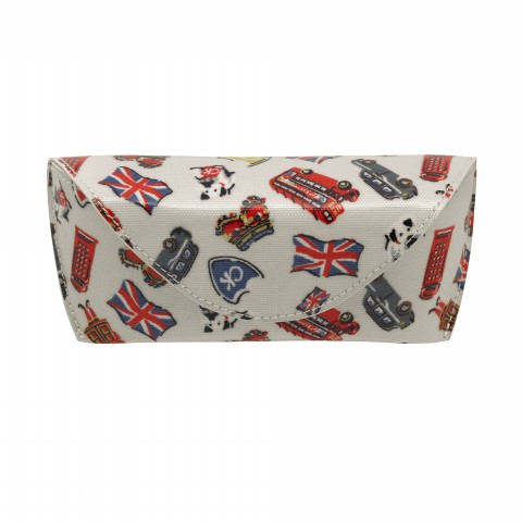 GLASSES CASE LONDON STAMPS STONE