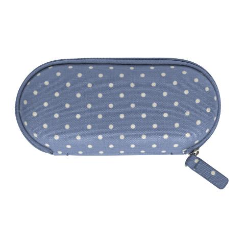 ZIP AROUND GLASSES CASE MINI DOT PERIWINKLE