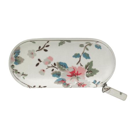 ZIP AROUND GLASSES CASE TRAILING ROSE NATURAL