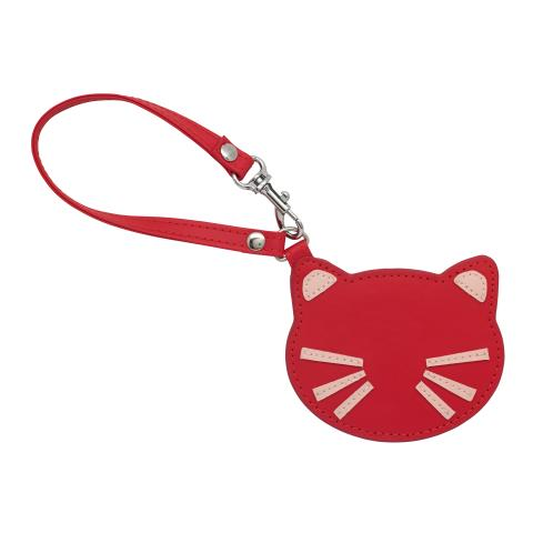 CAT MIRROR CHARM RED