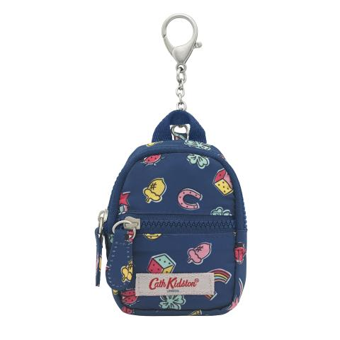 FOLDAWAY BACKPACK KEYRING GOOD LUCK CHARMS NAVY