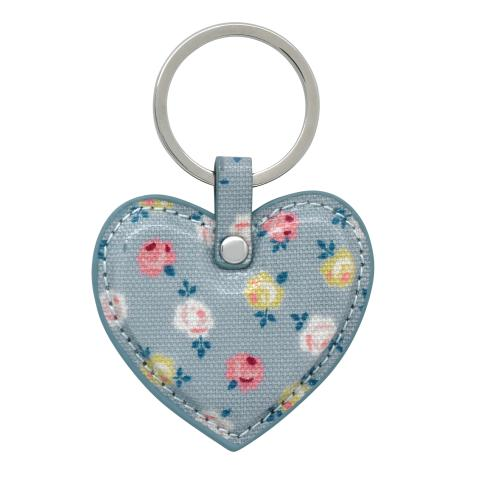 HEART KEY FOB O/C LUCKY ROSE SEAFOAM BLUE