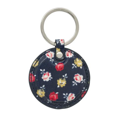 ROUND KEY FOB O/C LUCKY ROSE NAVY