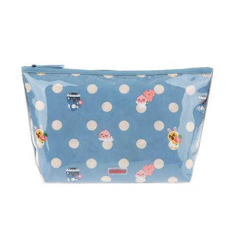 KAKAO BUTTON SPOT POLY LINED WASH BAG