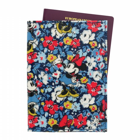 DISNEY PASSPORT HOLDER O/C MINNIE MEWS DITSY BLUE