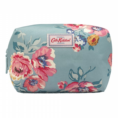 TRAVEL COSMETIC BAG WINDFLOWER BUNCH SOFT TEAL