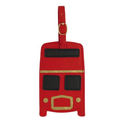 NOVELTY LUGGAGE TAG BUSRED