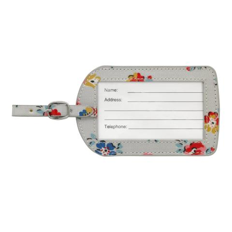 LUGGAGE TAG O/C LITTLE SPRIG SOFT GREY