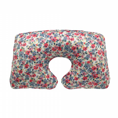 FOLDAWAY TRAVEL PILLOW PAINTED PANSIES PINK MULTI