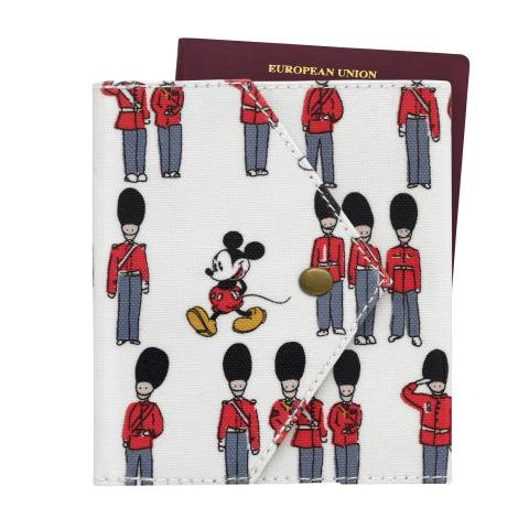 Disney Envelope Detail Passport Holder Mickey and Guards Ivory
