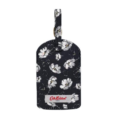 POLYESTER LUGGAGE TAG FALLING COSMOS SOFT BLACK