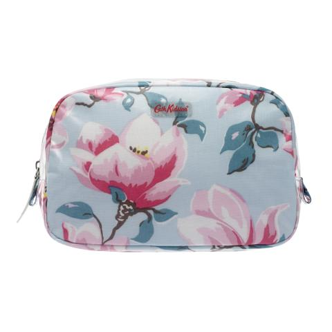 COSMETIC BAG MAGNOLIA COOL BLUE