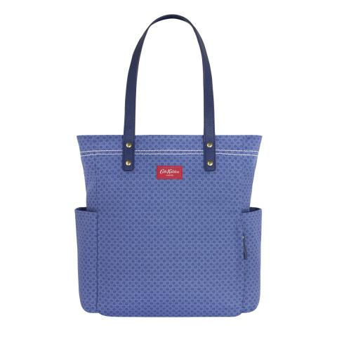L CANVS TOTE SHADOW FLOWERS B