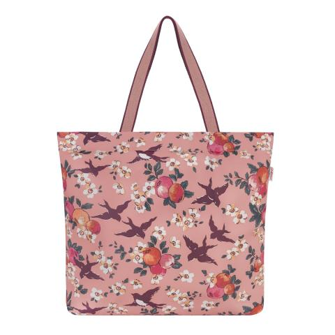 ORCHARD BIRDS LARGE FOLDAWAY TOTE