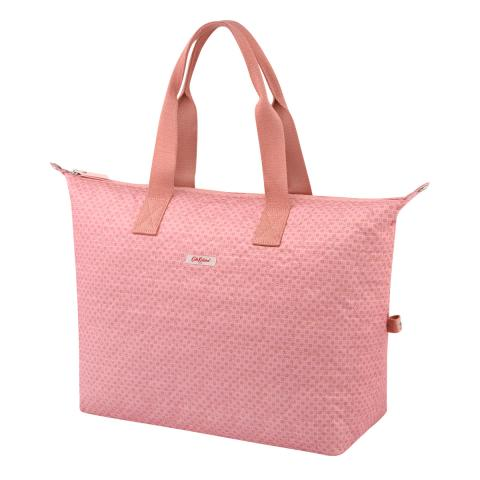 EMB OVERNIGHT BAG FRESTON ROSE QUILT PINK