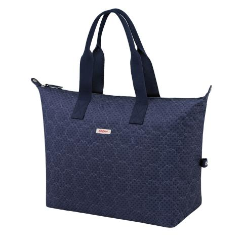 EMB OVERNIGHT BAG FRESTON ROSE QUILT NAVY
