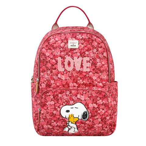 Snoopy Pocket Backpack Love Paper Ditsy