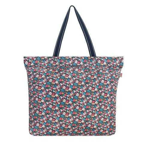 LARGE FOLDAWAY TOTE MEWS DITSY SMALL