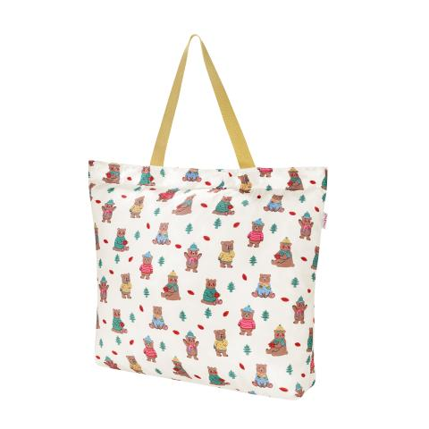 Large Foldaway Tote Woodland Bear