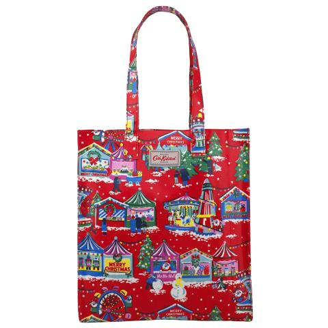 BOOK BAG O/C CHRISTMAS RED