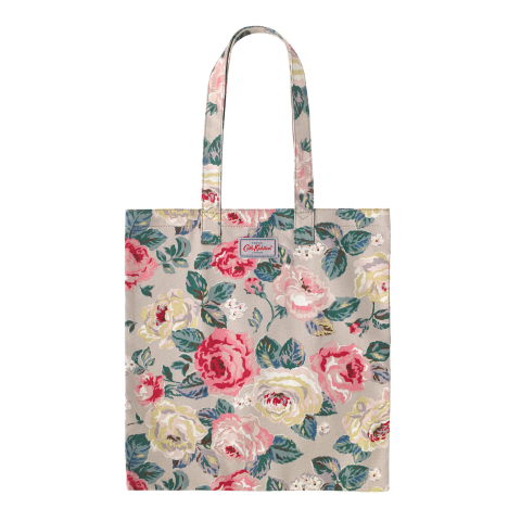 BOOK BAG COTTON FOREST ROSE TAUPE