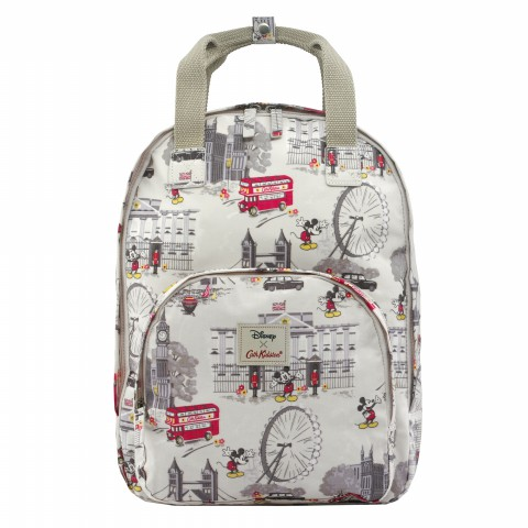 DISNEY MULTI POCKET BACKPACK MICKEY IN LONDON STONE