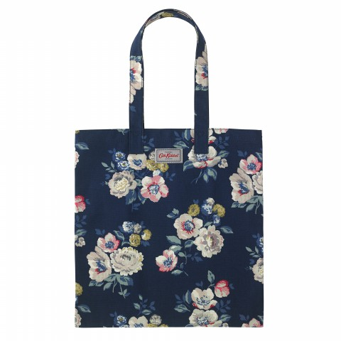 BOOK BAG COTTON WINDFLOWER BUNCH NAVY