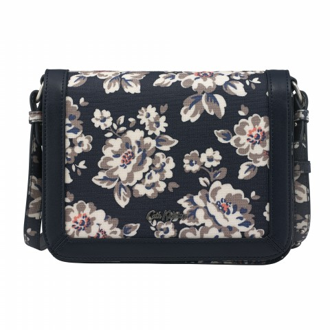 EMBOSSED SMALL LUCKY BAG ELVINGTON ROSE NAVY