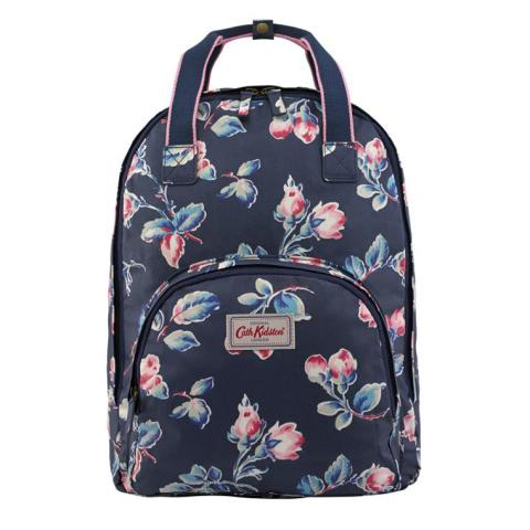 MULTI POCKET BACKPACK ROSEBUD SPRIG NAVY